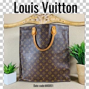 Louis Vuitton tote bag sac plat monogram